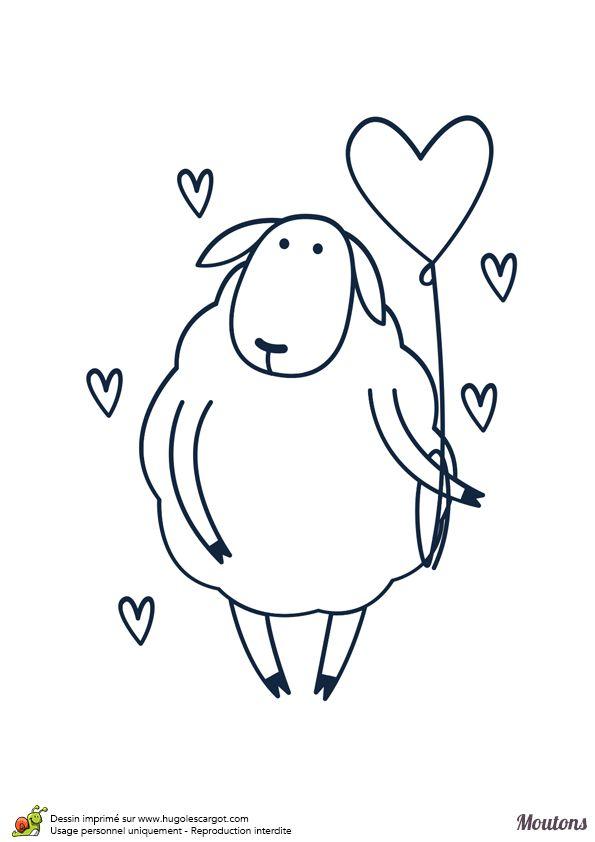 Les 25 meilleures id es de la cat gorie mouton dessin sur - Mouton a dessiner ...