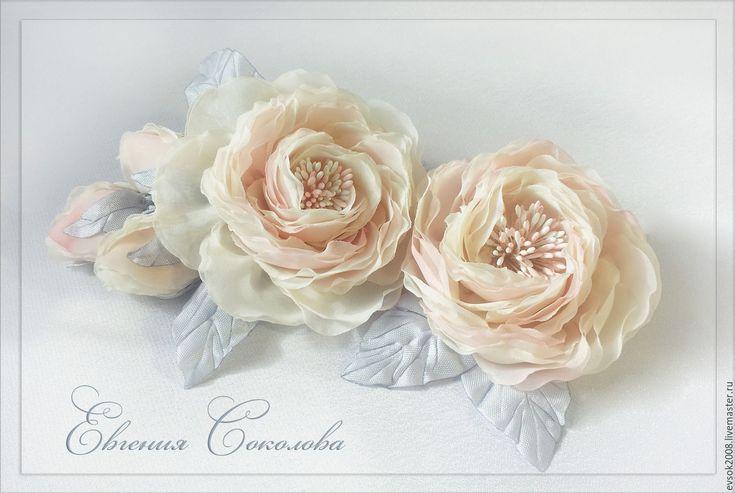 Купить Цветочные украшения для невесты. - бледно-розовый, свадебные аксессуары, свадебное украшение, свадебные украшения