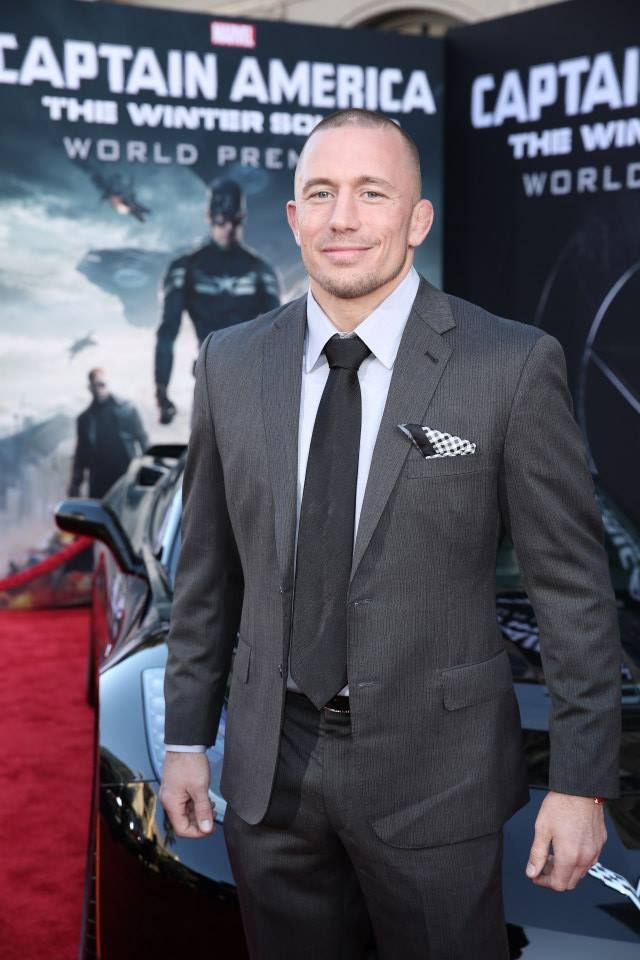 "Marvel's ""Captain America The Winter Soldier"" Hollywood Red Carpet Premiere - Georges St-Pierre"
