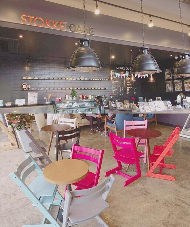 Tripp Trapp chairs in the Stokke Cafe via @dear.seha