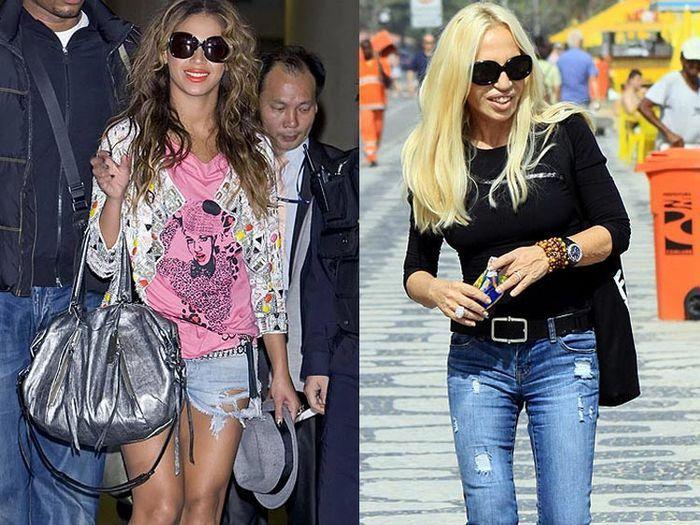 Versión mini short para Beyonce y clásicos para Donatella Versace (Gtresonline) | Versión mini short para Beyonce y clásicos para Donatella Versace (Gtresonline)