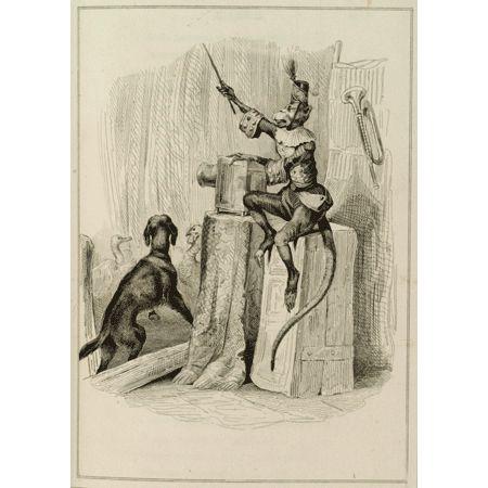 Le singe qui montre la lanterne magique, ill. Victor Adam