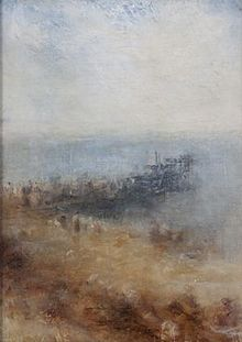 "JMW Turner - Margate Jetty. Turner described the Thanet skies as the ""loveliest in all Europe."""