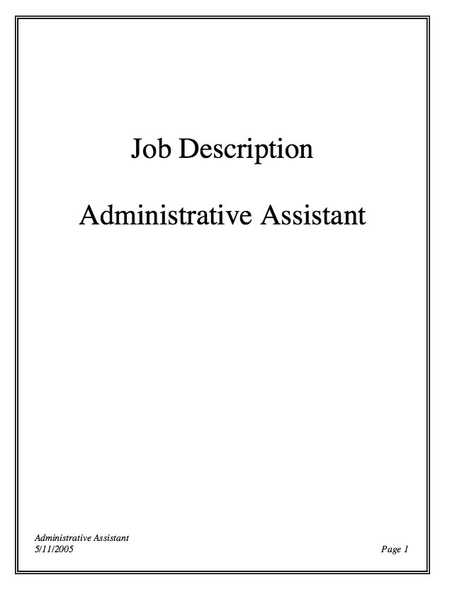 In Post This Time We Will Give A Example About Sample Of Administrative Assistant Job Description Resume That You Ideas And Provide Reference