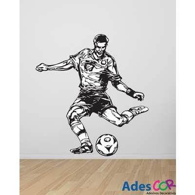 Adesivos Decorativos Jogador de Futebol. R$202.40