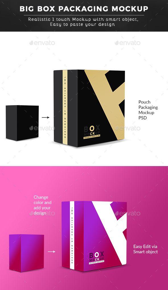 Download Big Box Packaging Mockup Packaging Mockup Box Packaging Box Packaging Design