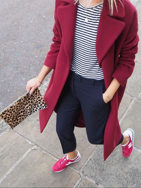 Winter Outfit: Roter Farbmix für graue Tage!