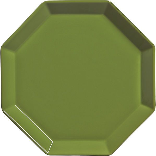 intermix olive green plate    CB2