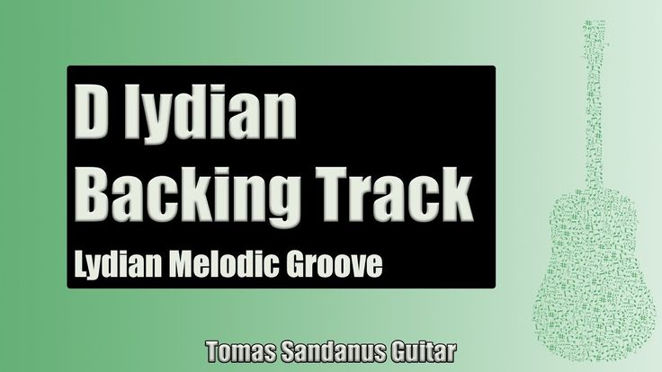 Guitar Backing Track Jam in D lydian mode | Lydian Melodic Groove