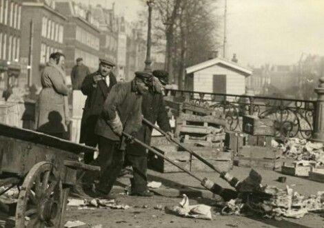 Straatvegers Amsterdam ca. 1930
