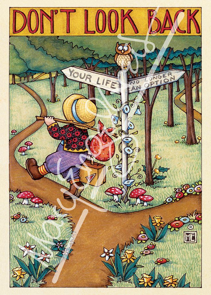 """Don't Look Back"" Greeting Card – Mary Engelbreit Studios"