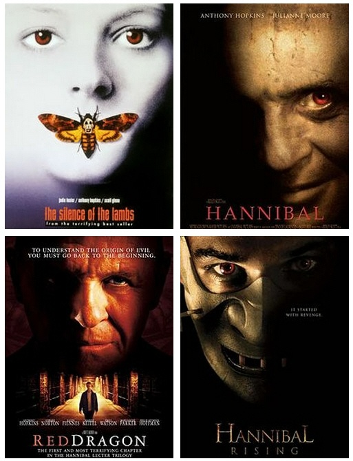 The silence of the lambs  Hannibal  Red dragon  Hannibal rising