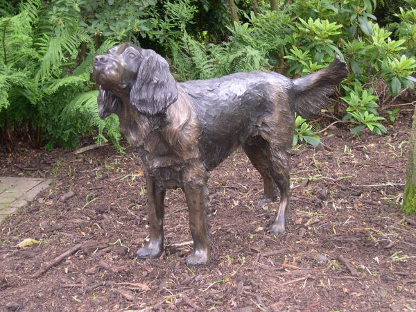 Bronze Resin Sculpture By Sculptor Nicholas Collins Titled Springer Spaniel Life Size Waiting Sculpture N With Images Dog Sculpture Dog Statue Sculpture