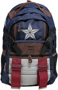 Canvas Captain America Backpack - http://www.thlog.com/canvas-captain-america-backpack/