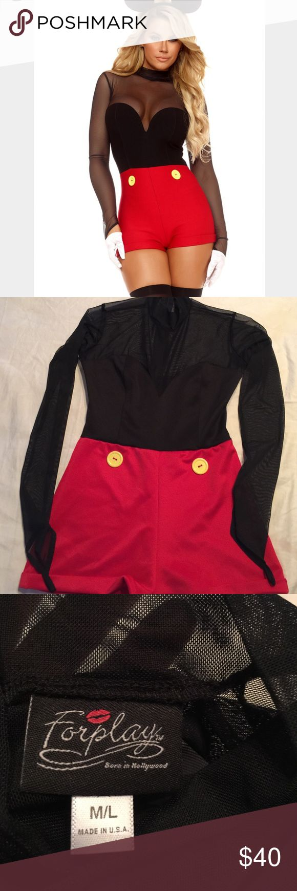 Mickey Mouse costume Brand new never worn. Perfect for Halloween. Pair with cute Mickey ears. And some white gloves. Extra cute and sexy Forplay  Other