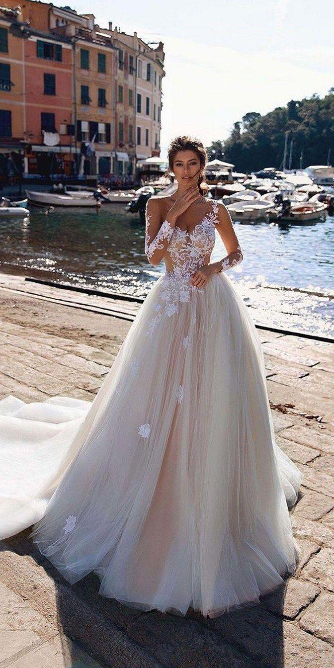 36 lace wedding dress tulle wedding dress,long sleeves bridal dress off shoulder wedding dress 21