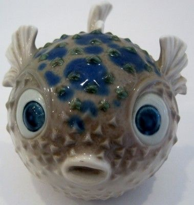Rare lladro pufferfish puffer fish lladro porcelain for Puffer fish for sale