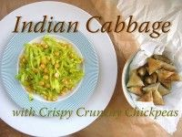 Indian Cabbage with Crispy Crunchy Chickpeas