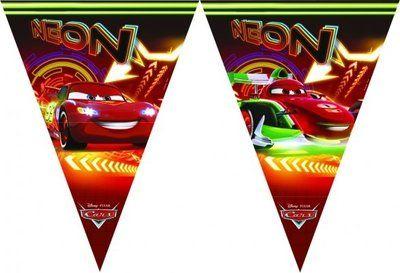 Disney Cars feestslinger of vlaggenlijn. Vlaggenlijn heeft een lengte van 230cm en is gemaakt van plastic.  ...