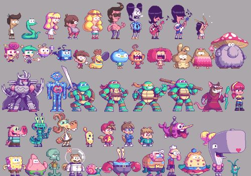 PixelArtus - The Power of Pixel Art • Nickelodeon Characters   Pixel Artist: Paul...