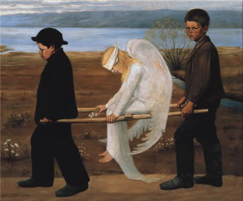 Haavoittunut enkeli (Wounded angel) by Hugo Simberg