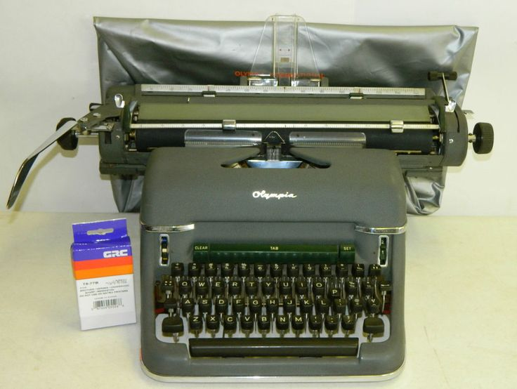 Click On Picture To Purchase. Or check out our eBay store http://stores.ebay.com/Amazing-Stuff-LLC for Hundreds Of Other Items. This Item May Be Currently For Sale On eBay, Germany Olympia Vintage Metal Typewriter Gray Green Manual SG1 Deluxe 1955 Vtg