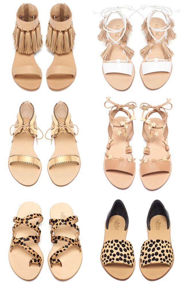 Loeffler Randall sandals featuring stars, fringe and tassels