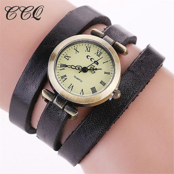CCQ Brand Retro Vintage Long Belt Leather Bracelet Roma Watch Women Casual  Wristwatch Luxury Quartz Watch Relogio Feminino 1810-in Women's Watches from Watches on Aliexpress.com   Alibaba Group