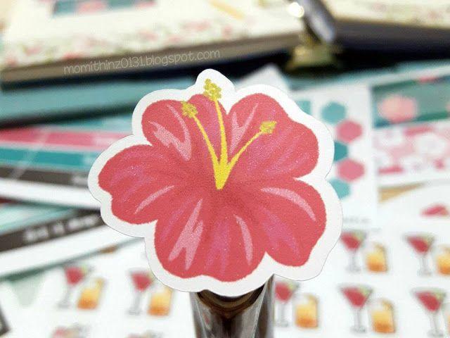 Decorative Hibiscus Planner Sticker