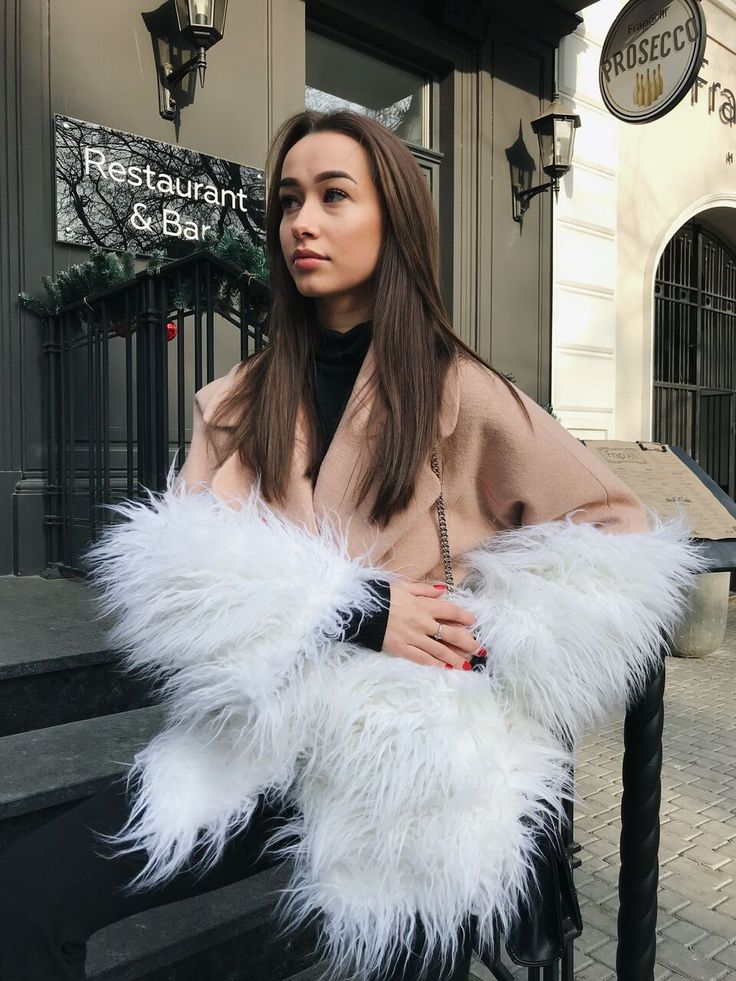 """SALE 30% OFF! Beautiful girl wearing WeAnnaBe Beige wool coat with faux llama fur. Check out our chic style ideas! Click """"Visit"""" to buy it now! --- Coats for woman, coats for woman 2017, coats for woman winter, winter outfits, winter fashion 2018, fashion 2018 winter, outfit ideas, style fashion, style inspiration, womens fashion, womens winter fashion, womens fashion casual, coat outfit, coat outfit winter, coat outfit beige. #coats #coat"""