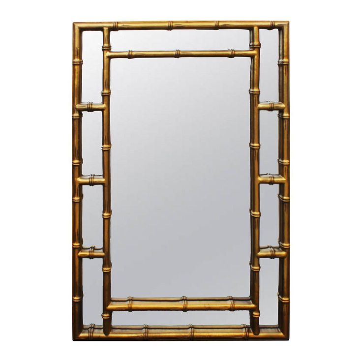 Gilt Faux Bamboo Mirror - Image 1 of 6