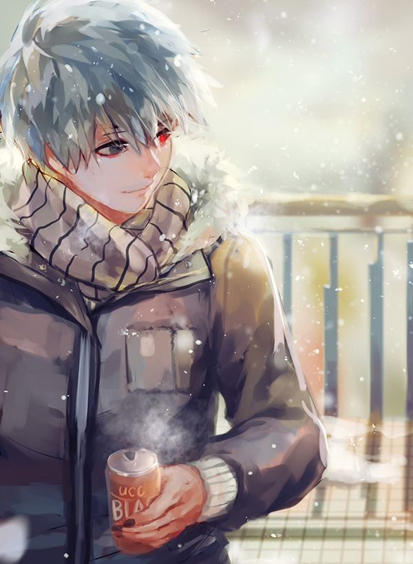 I love the artwork of Kaneki where he looks so innocent and peaceful ❤️