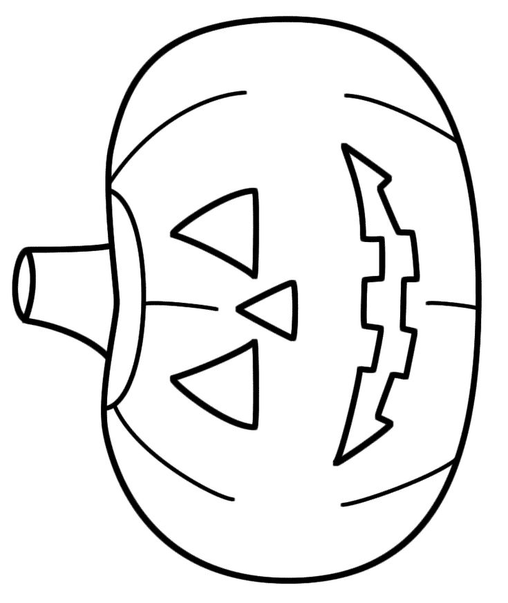Cute Jack Lantern Coloring Page Pages