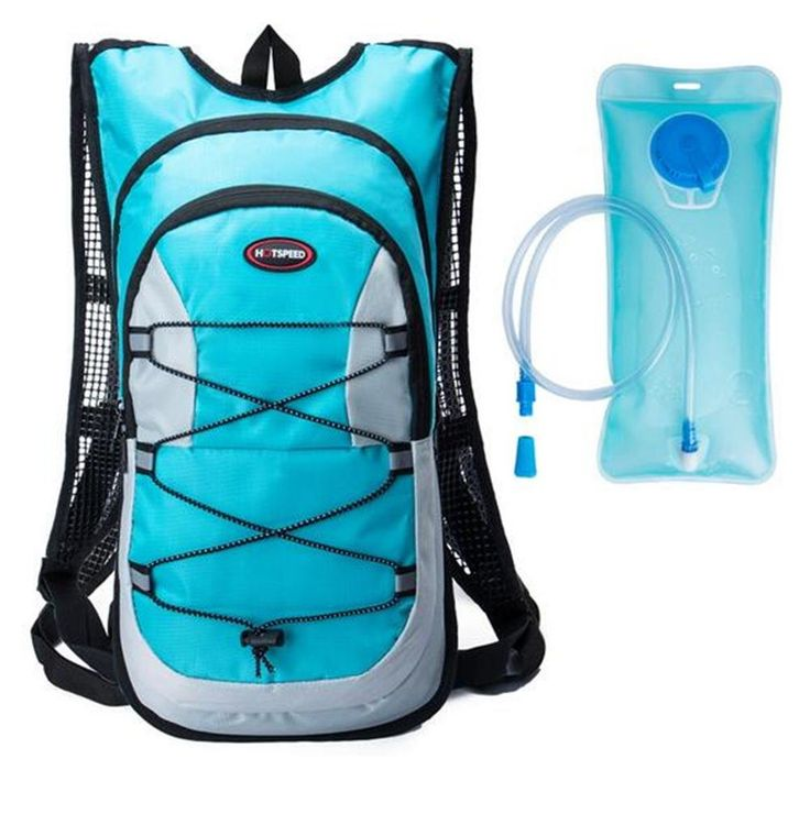 """Monvecle Hydration Pack Water Rucksack Backpack Bladder Bag Cycling Bicycle Bike/Hiking Climbing Pouch + 2L Hydration Bladder Cyan. Hydration Backpack & Water Bladder - Hydration Size:19"""" x 10"""" x 2"""". Hydration backpack with a bladder designed to hold drinking water and a tube with a spout for drinking. Free 70-Ounce (2 Liter) hydration bladder. Safe and High Quality Bladder - The hydration pack bladder's screw cap prevents accidental spills. In addition to being BPA-Free, it's also fully..."""