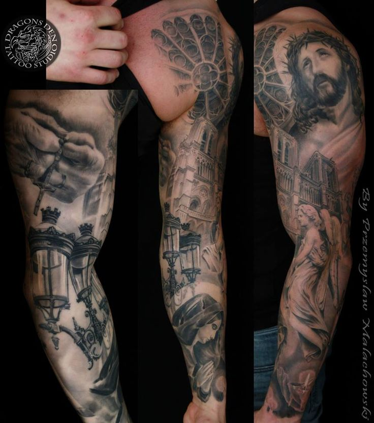 Religious sleeve done by SHAMACK