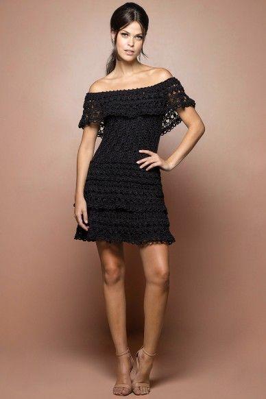 Black Martini Crochet Dress - Vanessa Montoro USA                                                                                                                                                      More