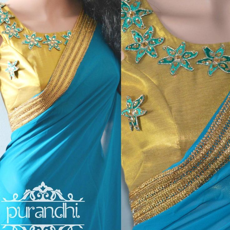 Gorgeous Saree Customized for Anusha within her Budget :) 2 More Pieces Available Rama Blue Soft Georgette Drape Finished with Rich Gold border and paired up with Thread and Stone work Patches Blouse. Price : 3200/- with Stitched blouse For Inquires contact us at purandhistore@gmail.com Or What s app : 9063534017 20 August 2016