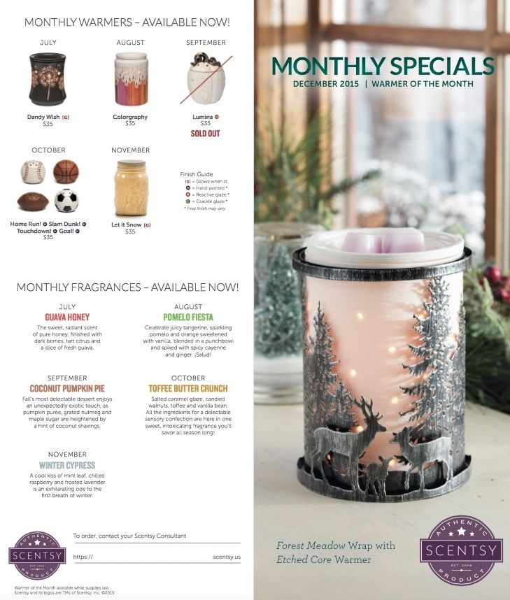 December 2016 January 2017 Kitchen Of The Month: Scentsy December 2015 Warmer And Scent Of The Month