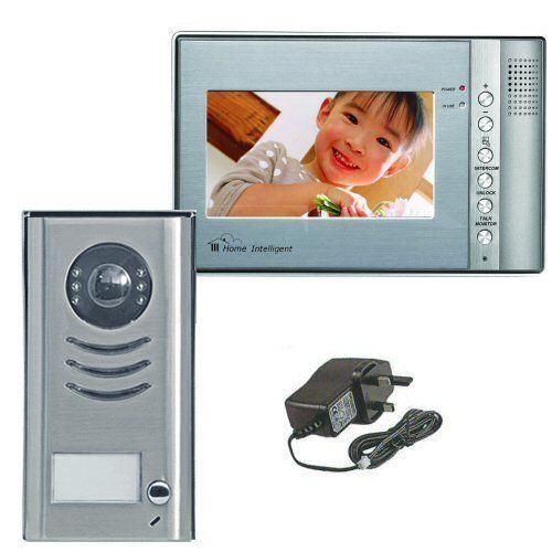 Color Video Intercom with 7 inch touch screen monitor antivandal stainless steel outdoor station by VT. $309.99. This 4 -wire Color Video Intercom system is a great security enhancement for home or business. With this hands free system you will be able to accept calls from the front door or gate. Talk with the visitors, see them even in dark conditions, open the door remotely, initiate a call or watch the front Door or Gate area. All with a finger touch on the scree...