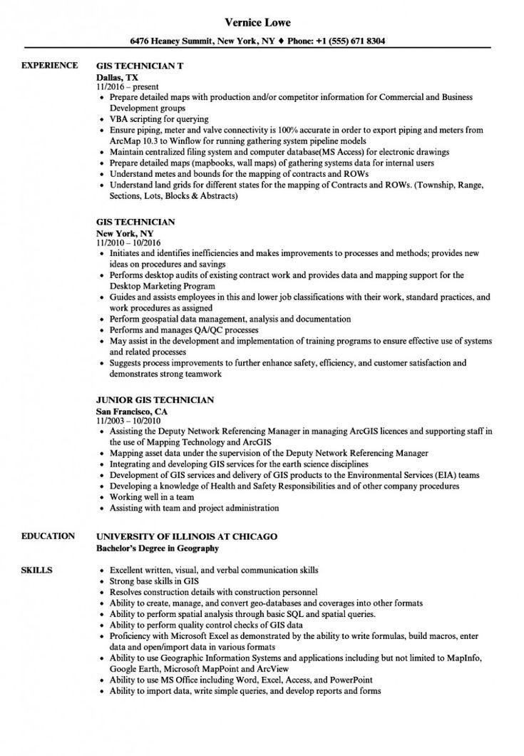14 gis engineer resume