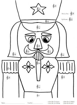 NUTCRACKER MUSIC COLORING PAGE - TeachersPayTeachers.com