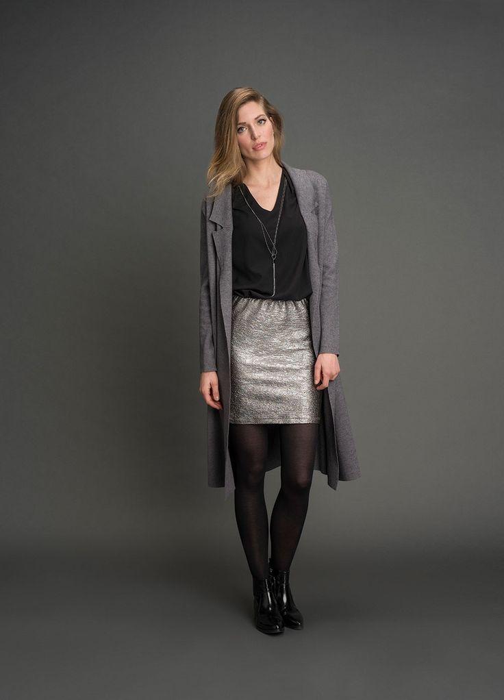 Lang vest van Tramontana in een grijze melange, nu in de uitverkoop (-30%) € 69,97! #tramontana #vest #sale #melange #fashion #outfitoftheday #weidesign