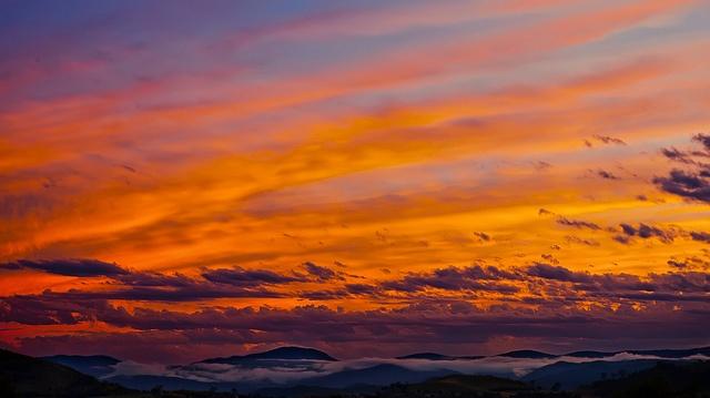 Brindabella storm sunset #canberra