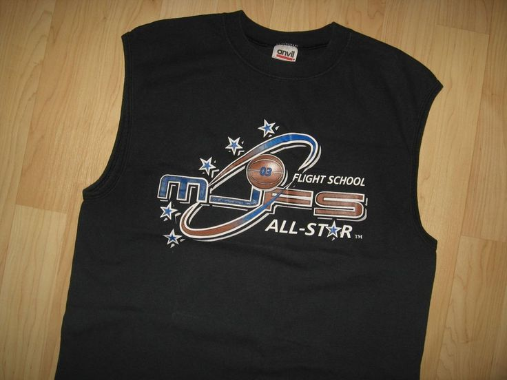 Michael Jordan Flight School MJFS 2003 Basketball Camp Faded Tank Top T Shirt M #MichaelJordanFlightSchool #GraphicTee