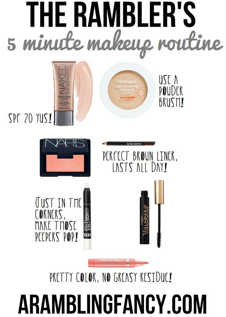 5 min makeup with the rambler