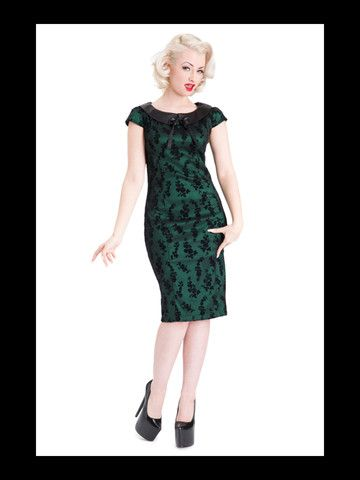 Green Lucille Dress by Voodoo Vixen – Anomalie Clothing