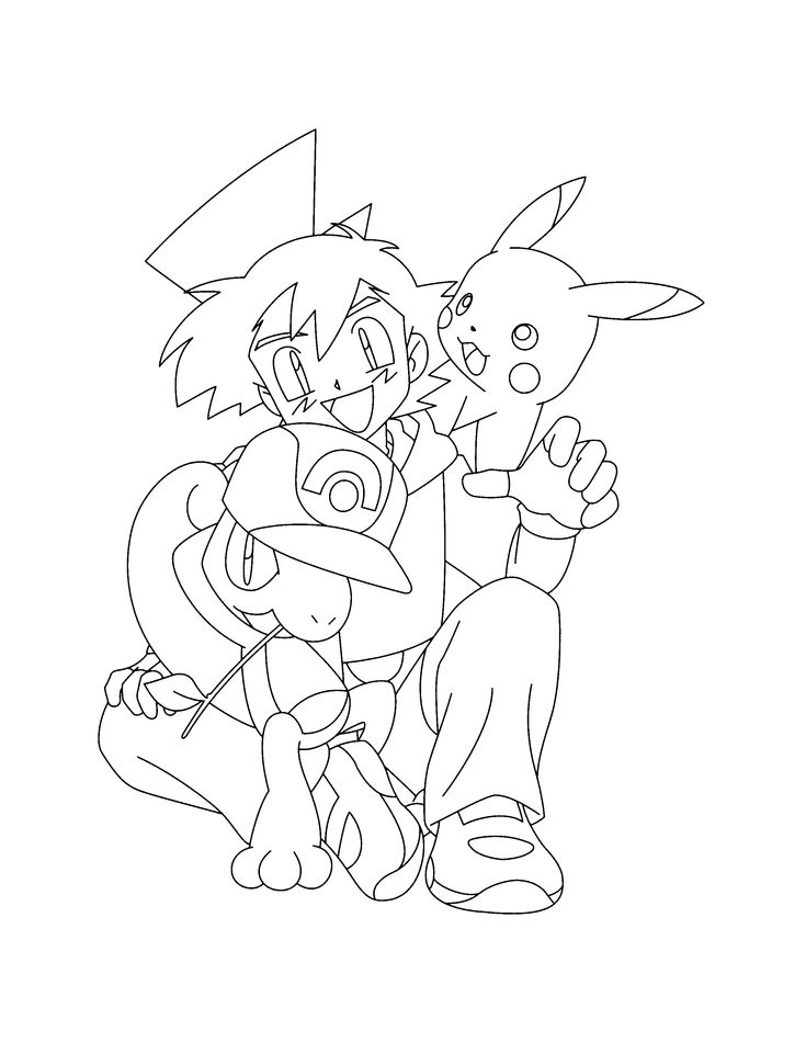 pokemon group coloring pages - photo#20