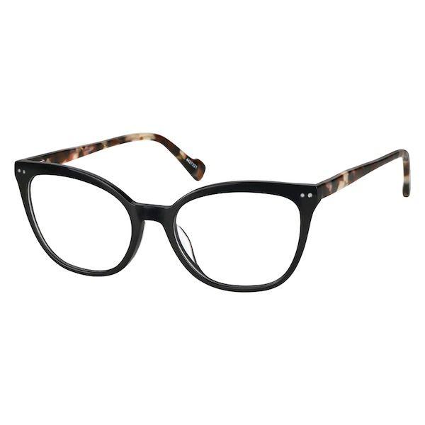 daea7d03c0 Zenni Womens Cat-Eye Prescription Eyeglasses Black Tortoiseshell Plastic  4427321