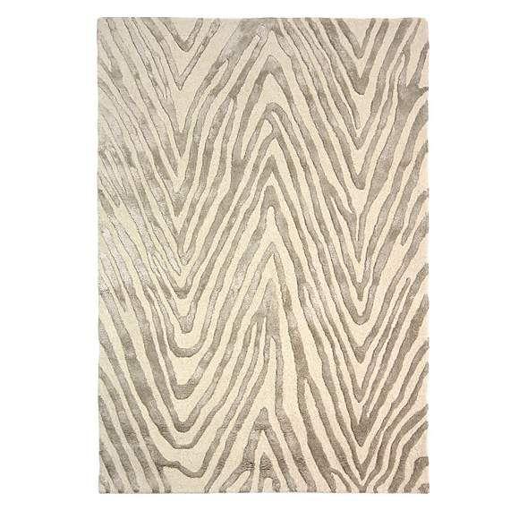 5a Fifth Avenue Cream Zebra Print Rug