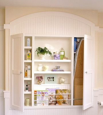the 43 best images about diy built in ironing board on. Black Bedroom Furniture Sets. Home Design Ideas